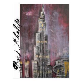 Khalifa Dubai de Burj Tarjeta Postal