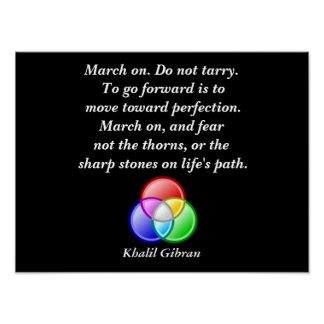 Khalil Gibran quote - art print