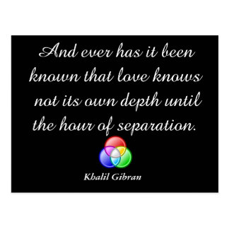 Khalil Gibran - quote Postcard