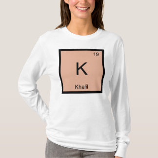 Khalil  Name Chemistry Element Periodic Table T-Shirt