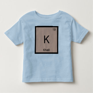 Khalil  Name Chemistry Element Periodic Table Toddler T-shirt