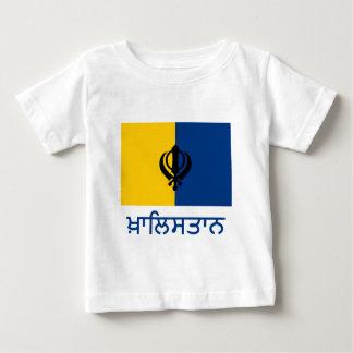 Khalistan Flag with Name in Punjabi Baby T-Shirt