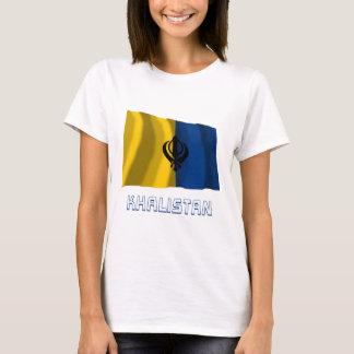 Khalistan Waving Flag with Name T-Shirt