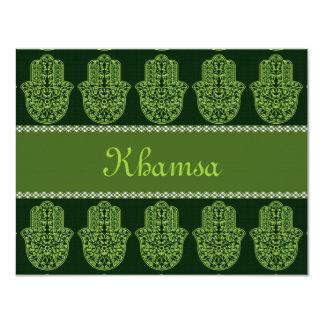 """Khamsa*Hamsa Invitación 4.25"""" X 5.5"""""""