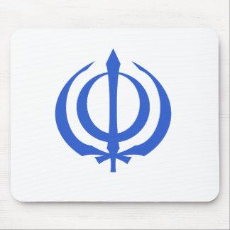 Khanda-Blue Mouse Pad