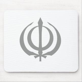 Khanda-Gray Mouse Pad