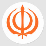 Khanda-O Round Stickers