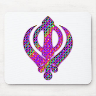 khanda psychedelic mouse pad