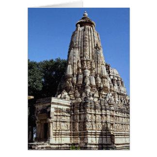 Khandariya Temple, Khajuraho, Madhya Pradesh, Indi Card