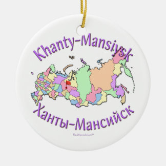 Khanty-Mansiysk Russia Map Ornament