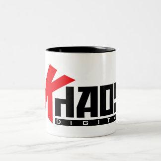 Khaos Digital Mug. Two-Tone Coffee Mug