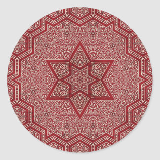 khayameya rojo pegatina redonda