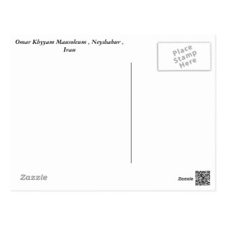 Khayyam Mausoleum Postcard