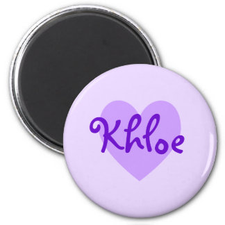 Khloe in Purple Refrigerator Magnets