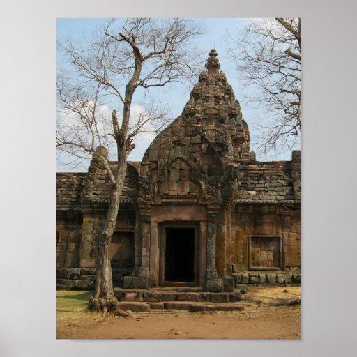 Khmer Castle ... Buriram, Isaan, Thailand Poster