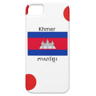Khmer Language And Cambodian Flag Design iPhone SE/5/5s Case