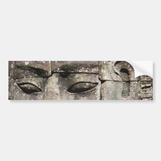Khmer Stone Face ... Bayon Temple, Cambodia Bumper Sticker