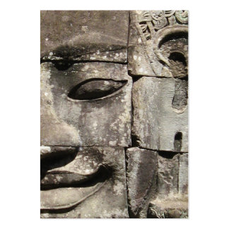 Khmer Stone Face ... Bayon Temple, Cambodia Large Business Card