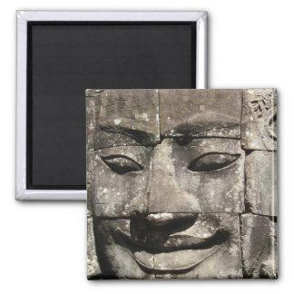 Khmer Stone Face ... Bayon Temple, Cambodia Refrigerator Magnet