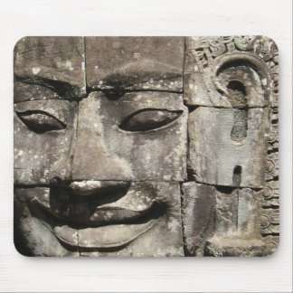Khmer Stone Face ... Bayon Temple, Cambodia Mouse Pad