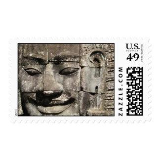 Khmer Stone Face ... Bayon Temple, Cambodia Postage