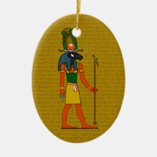 Khnum, Ancient Egyptian God Ceramic Ornament