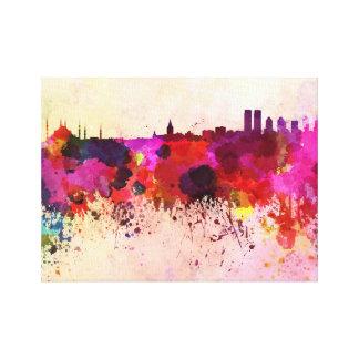 Khobar skyline in watercolor background canvas print