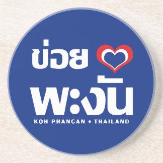 Khoi Huk (I Heart / Love) Koh Phangan ❤ Thailand Drink Coaster