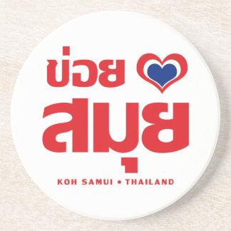 Khoi Huk (I Heart / Love) Koh Samui ❤ Thailand Drink Coaster