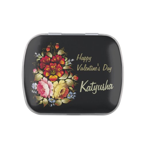Khokhloma CC0375 Valentine Candy Tin