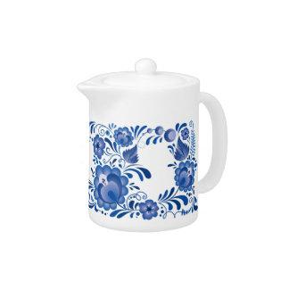 Khokhloma floral azul