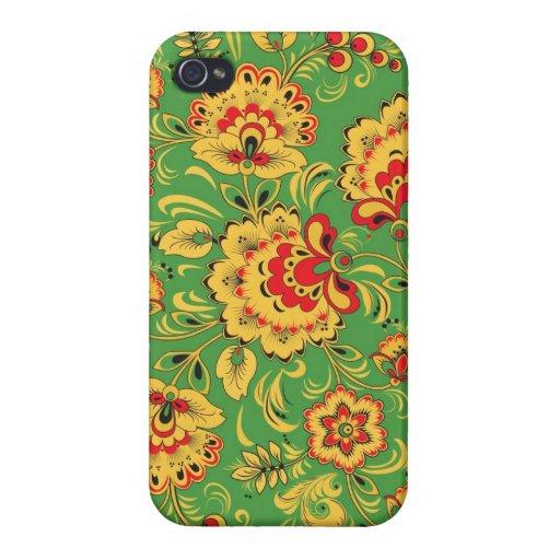 Khokhloma (Hohloma) Russian Ethnic iPhone 4/4S Covers