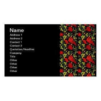 Khokhloma pattern business card