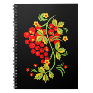 Khokhloma pattern notebook