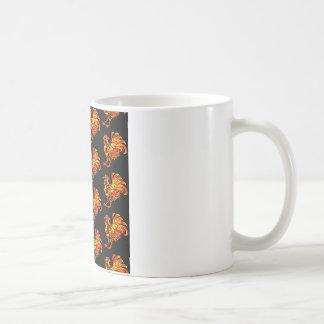 Khokhloma rooster coffee mug