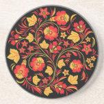 Khokhloma Russian Folk Art Coaster