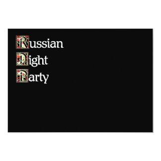 Khokhloma Russian Party 5x7 Paper Invitation Card