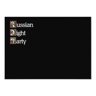Khokhloma Russian Party 4.5x6.25 Paper Invitation Card