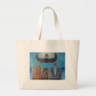 Khonsu and Re lead the Horses of the King. Large Tote Bag