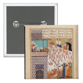 Khosro before Shirin's Palace 2 Inch Square Button
