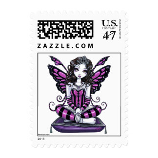 """Khristyn"" Pink Princess Fairy Art Postage"
