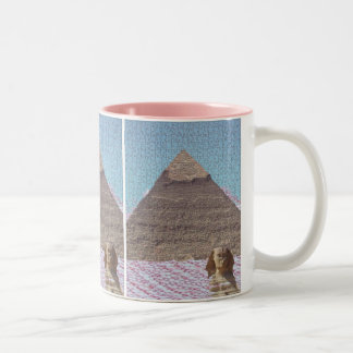 KHUFU PYRAMID AND SPHINX MUG