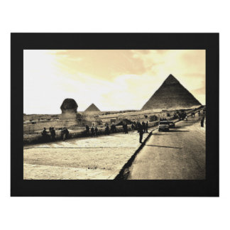 Khufu Pyramid and Sphinx Panel Wall Art