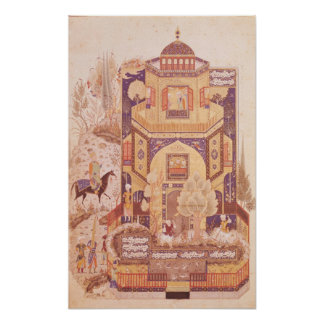 Khusrau in front of the Palace of Shirin Poster