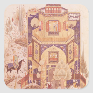 Khusrau in front of the Palace of Shirin Square Sticker