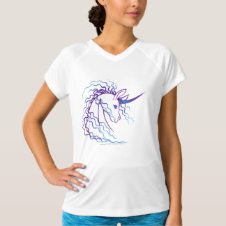Ki-Rin (Japanese Unicorn) - Blue & Purple T-Shirt
