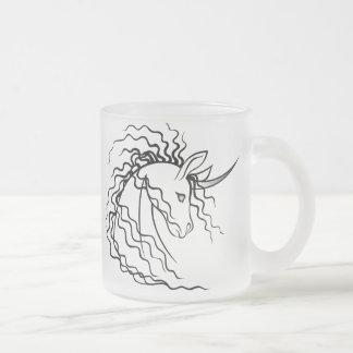 Ki-Rin (Japanese Unicorn) Mug- Black on Frosted