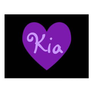Kia en púrpura postal