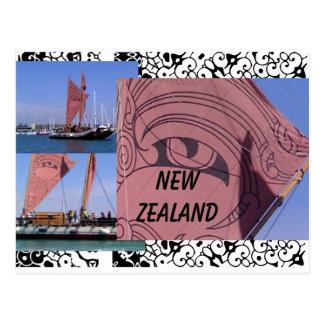 Kia Ora from New Zealand Postcard