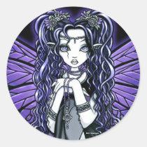 kiara, fairy, faery, faerie, fae, butterfly, tribal, fusion, purple, princess, fantasy, art, myka, jelina, mika, faeries, Sticker with custom graphic design